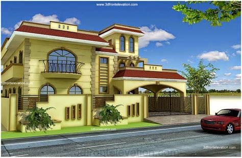 home front view design pictures in pakistan 3d front elevation pakistan 1 kanal 10 marla plan 3d front elevation of house beautiful
