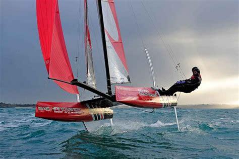 hobie hydrofoil boat we want one foiling phantom catamaran via