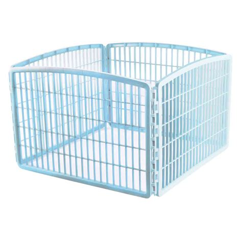 puppy pen petco iris blue four panel pet containment and exercise pen without door petco