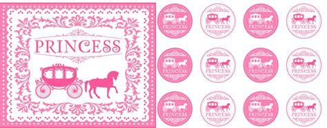 printable party decorations princess party free printables tickled pink party ideas