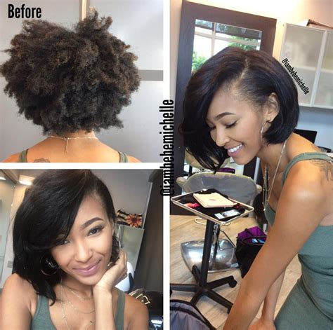 pressed short hairstyles lovely silk press via iambebemichelle http community