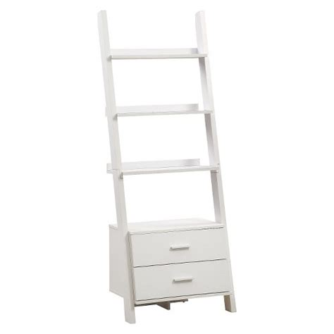 ladder bookcase target ladder bookcase with drawers white everyroom target