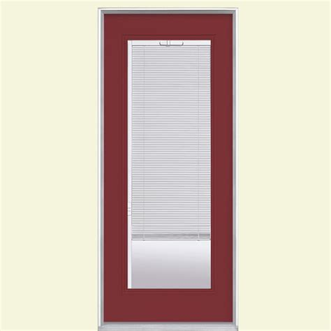 Blinds For Front Doors Masonite 32 In X 80 In Mini Blind Painted Steel Prehung Front Door With No Brickmold 24628
