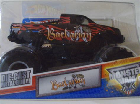 monster jam 1 24 scale wheels monster jam barbarian truck 1 24 scale new