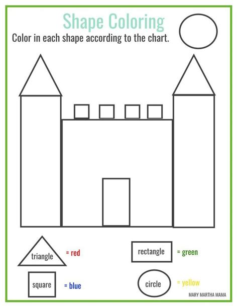coloring pages with shapes for preschool free printable shape coloring printable homeschool