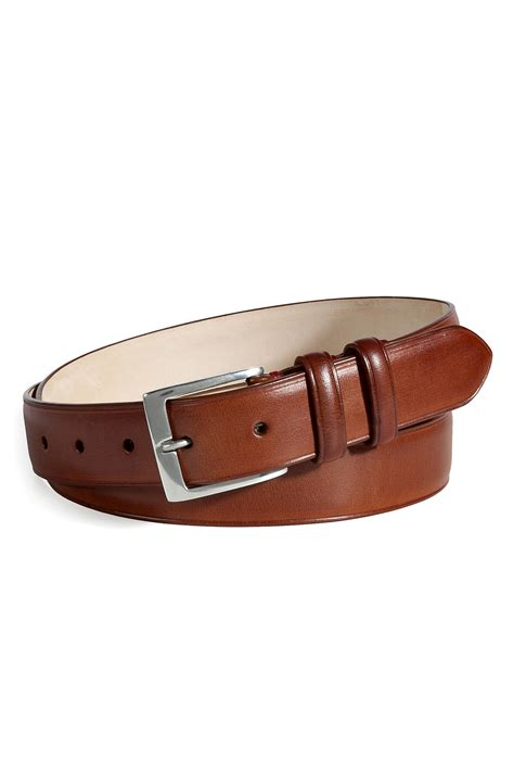 paul smith brown leather belt in black for lyst