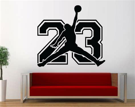 michael jordan  wall decal basketball bedroom jordan