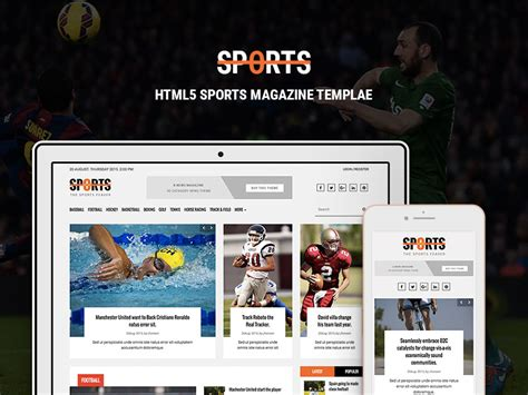 bootstrap templates for news portal sports news portal free bootstrap html magazine template