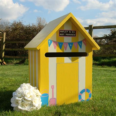 Wedding Post Box Yellow by Hut Personalised Wedding Post Box Handcrafted
