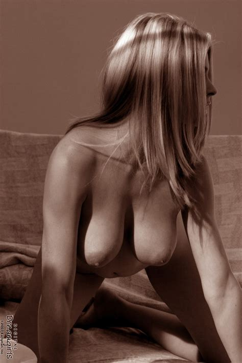 Naked Chantelle Fontain Black And White Photos 2 Of 2