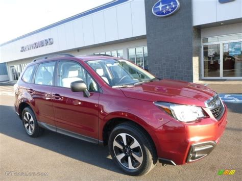 red subaru forester 2017 2017 venetian red pearl subaru forester 2 5i 117680330