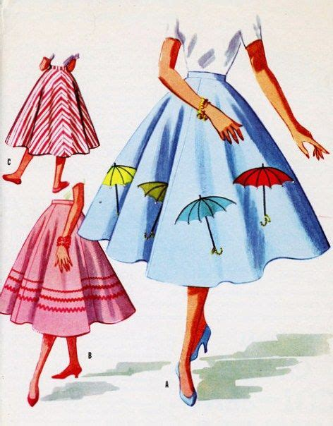pattern of umbrella skirt 12 best images about 1950s fashion on pinterest a button