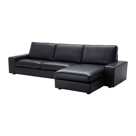 ikea black sectional kivik sectional 4 seat with chaise grann bomstad black