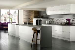 Gray And White Kitchen Ideas White Kitchen Cabinet With Grey Floor And Backsplash For