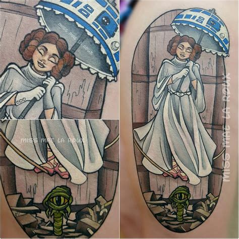 princess leia tattoo inked wednesday 73 wars meets haunted mansion and