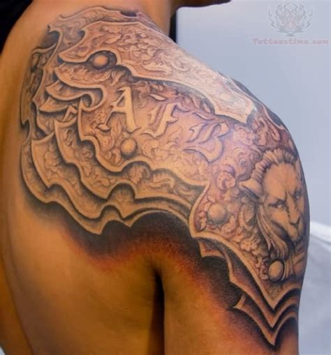 shoulder armor tattoo designs 53 amazing armor shoulder tattoos