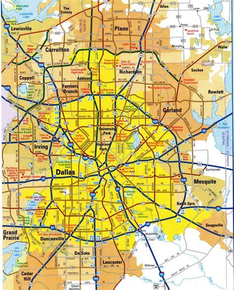 map of dallas area dallas