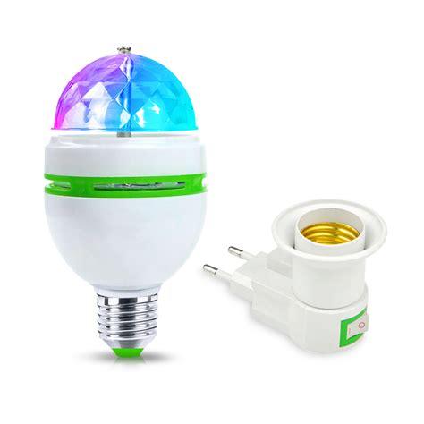 Raket Astec Nano Light 110 110v 220v 3w e27 rgb led light 85 265v led stage light auto rotating led bulb eu