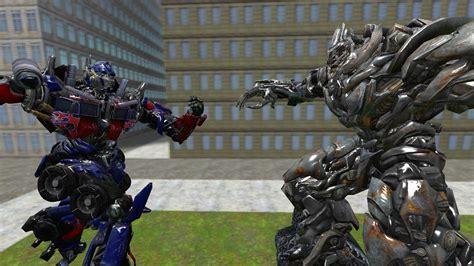 Mecha Transformer Optimus Ironhide Bumblebee Shockwave optimus prime vs megatron the stand by