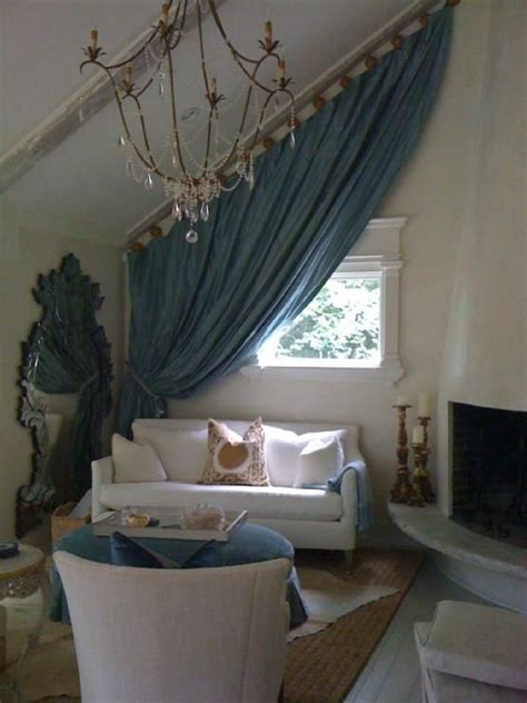 vaulted ceiling curtain ideas curtains ivy and ceilings on pinterest