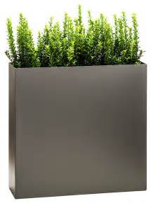 partition tower planter pewter large modern outdoor