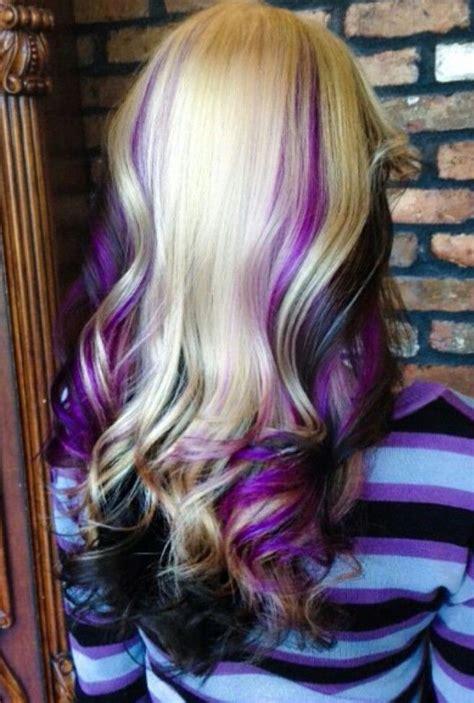 is streaking still popular on hair best 20 purple streaks ideas on pinterest purple hair