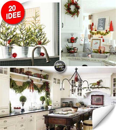 decorazione cucina una decorazione natalizia in cucina ecco 20 idee per