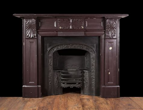 Carved Fireplace by Carved Antique Slate Fireplace Sl021