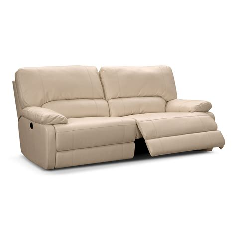 Power Recline Sofa with Coronado Leather Power Reclining Sofa Value City Furniture
