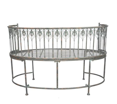 curved wrought iron bench curved wrought iron bench verdigris collection demeure