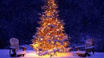 snowing christmas tree and christmas music youtube