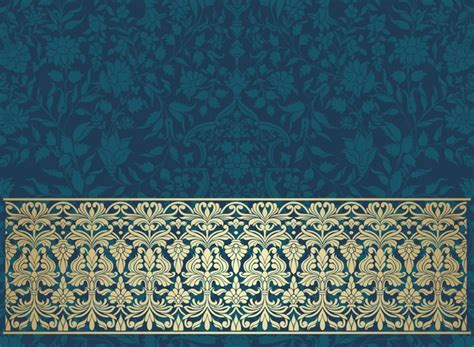 seamless pattern ai file vintage decorative pattern with floral seamless border