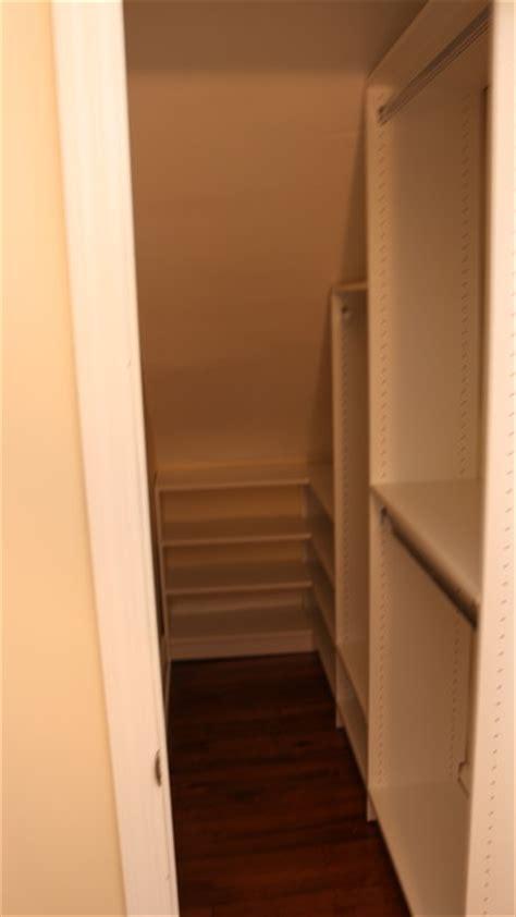 Closet Pros Wall Nj by Narrow Angled Ceiling Walk In Closet