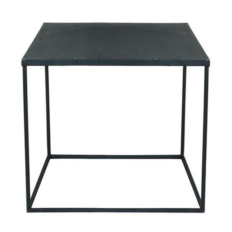 Table Basse Mã Tal Noir Table Basse Indus En M 233 Tal Effet Vieilli L 45 Cm