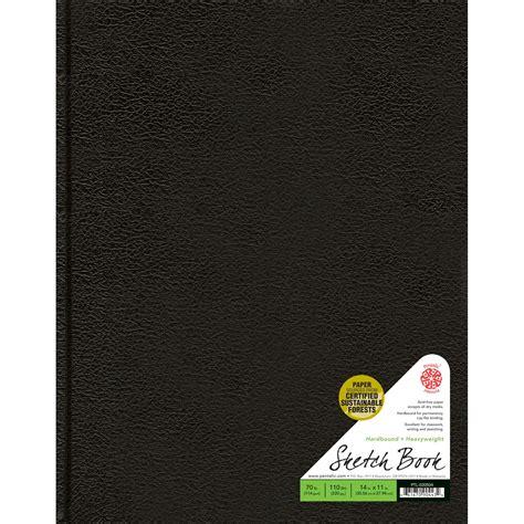 sketch book black traditional hardbound sketchbook pentalic