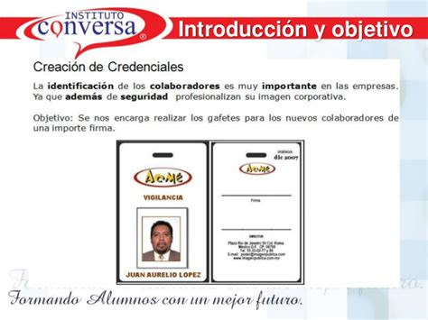 formato para credenciales de trabajo creaci 243 n de credenciales