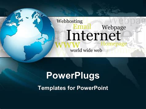 ppt themes internet powerpoint template abstract internet world wide web