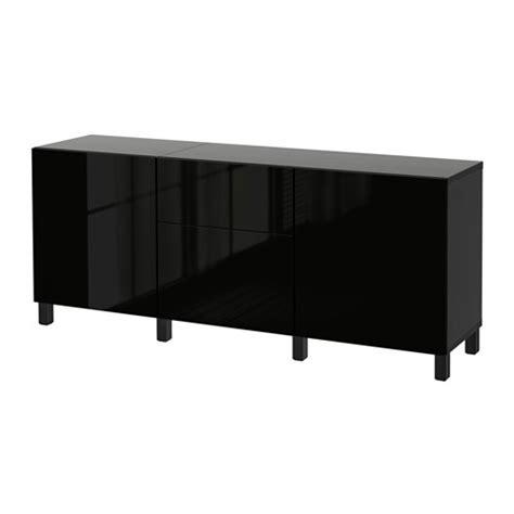 Ikea Besta Zwart by Best 197 Opberger Met Lades Zwartbruin Selsviken Hoogglans