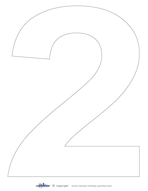 number 2 template printable number 2 coolest free printables