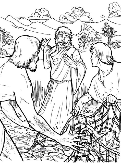 coloring page for jesus cooks breakfast jesus calls his disciples coloring page sketch coloring page
