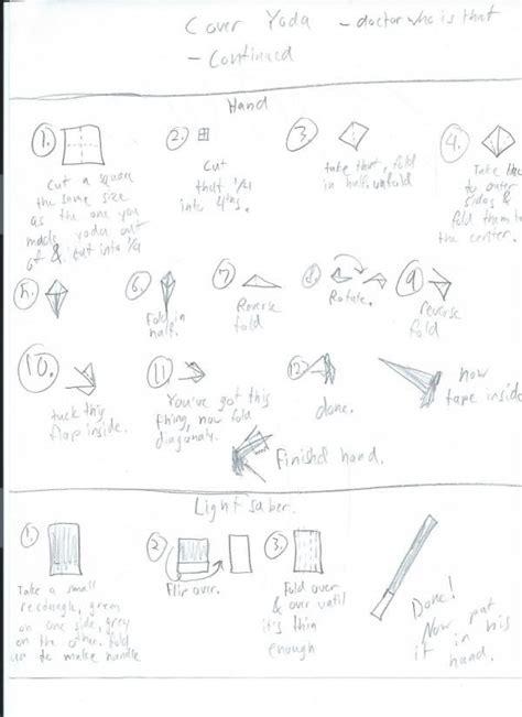 Written Origami - origami yoda written comot