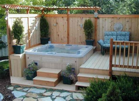 hot tub small backyard 63 hot tub deck ideas secrets of pro installers designers