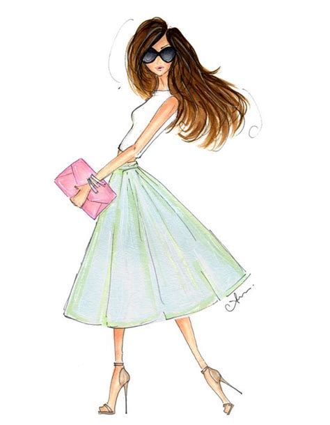 Gorgeous Fashion Illustrations by Anum Tariq Illustrations Planner
