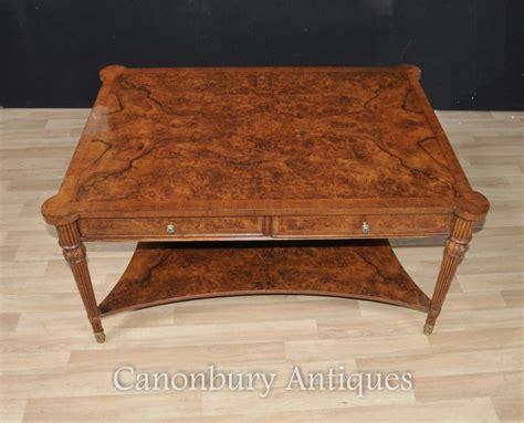 regency coffee table burr walnut regency coffee table cocktail tables furniture