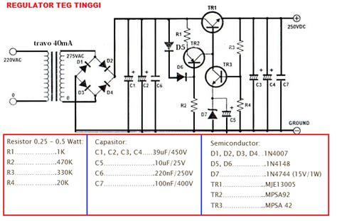 transistor sanken tegangan tinggi wirkam regulator tegangan tinggi