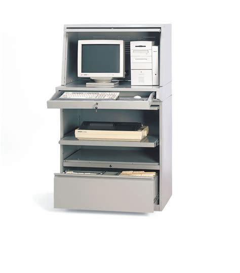 Closed Computer Desk Grainger Approved Computer Enclosure 35x30x62in Light Gray 4tx89 4tx89 Grainger