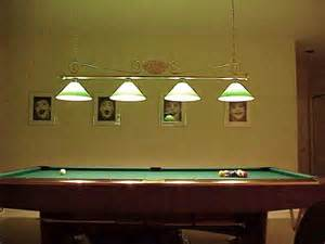 billard beleuchtung pool table light fixtures light decorating ideas