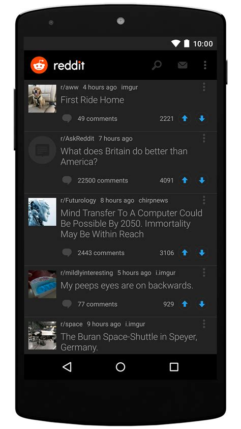 reddit android official reddit app for android is finally available android central