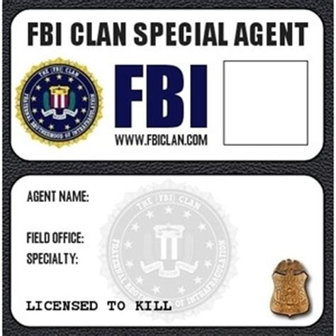 fbi id template badges and ids polyvore