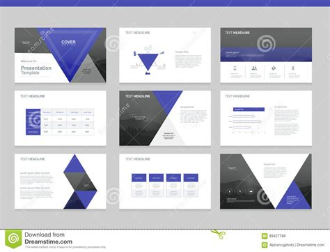 page layout design elements business presentation background design template stock
